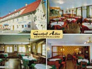 Alte Postkarte des Gasthof Adler