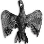 Der Adler über dem Eingang zum Restaurant