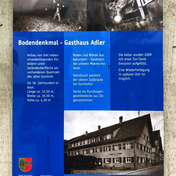 Bodendenkmal Gasthof Adler Sonthofen