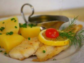 gebackener Fisch