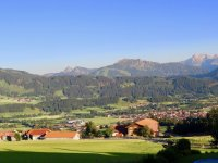 Panoramablick Alpenblick
