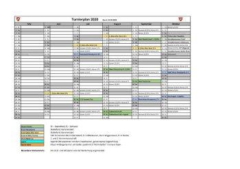 Turnierkalender 2020