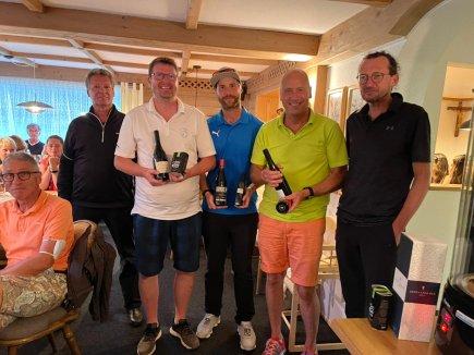 Sieger Netto A (v.l.) Martin Eulgem, Simon Reimann und Willy Bitter