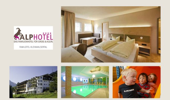 Alphotel - Collage Webseite