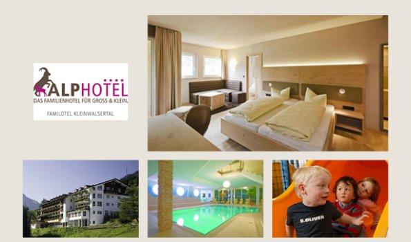 Alphotel - Collage Webseite