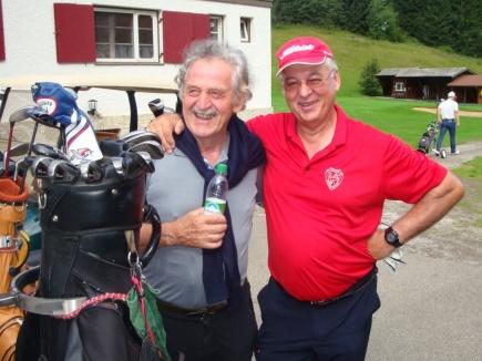 Otto Schall mit Präsident Hans Baldauf vor der Runde