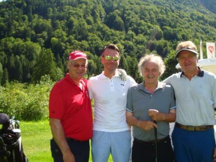 Der Präsidenten-Flight (v.l.) Hans Baldauf, Elmar Reiber, Otto Schall und Karlheinz Brückner