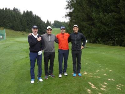 Der erste Flight (v.l.): Richard Domagalla, Titelverteidiger Matthias Becherer, Michael Fischer und Roy Gibson