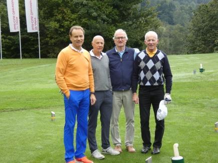 Herren-Flight (v.l.): Artur Klauser, Hans Koinig, Hansjörg Jacoby und Heini Ihle