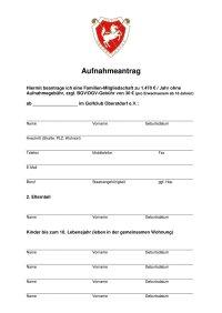 Aufnahmeantrag Familien-Mitgliedschaft