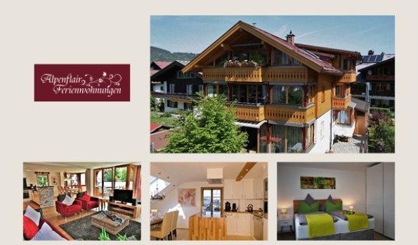 Alpenflair - Collage Webseite