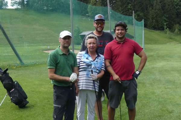 Team Divot (v.l.): Joachim Wegner, Ingrid Bühler, Ruppert Friedrich und Louis Eberle