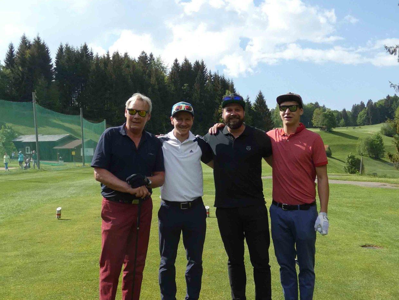 Team TSV Fischen (v.l.): Hannes Heidinger, Constantin Kreiselmeyer, Benjamin Paulitsch und Thomas Jörg