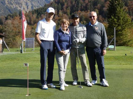V.l.: Peter Fischer, Rosi Mittermeier, Christian Neureuther und Präsident Hans Baldauf