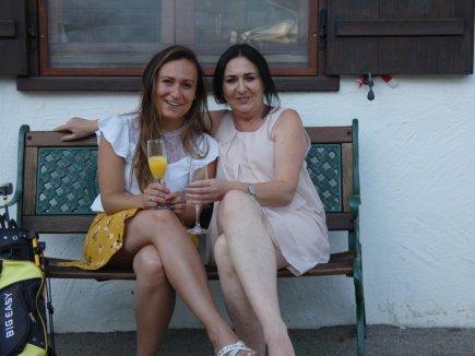 Petra Reiber mit Nichte Angela