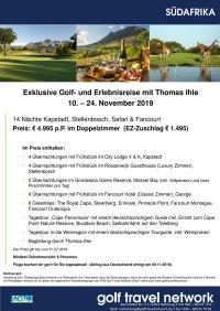 Golfreise Südafrika 10. - 24.11.2019