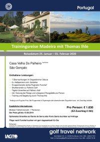 Golfreise Madeira 25.01. - 01.02.2020