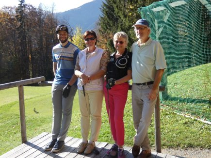 V.l.: Roman Weber, Moni Mükusch, Doris Sansoni und Hansjörg Jacoby