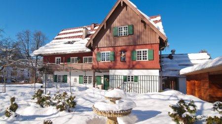 Das Geldernhaus an einem wunderbaren Wintertag ...