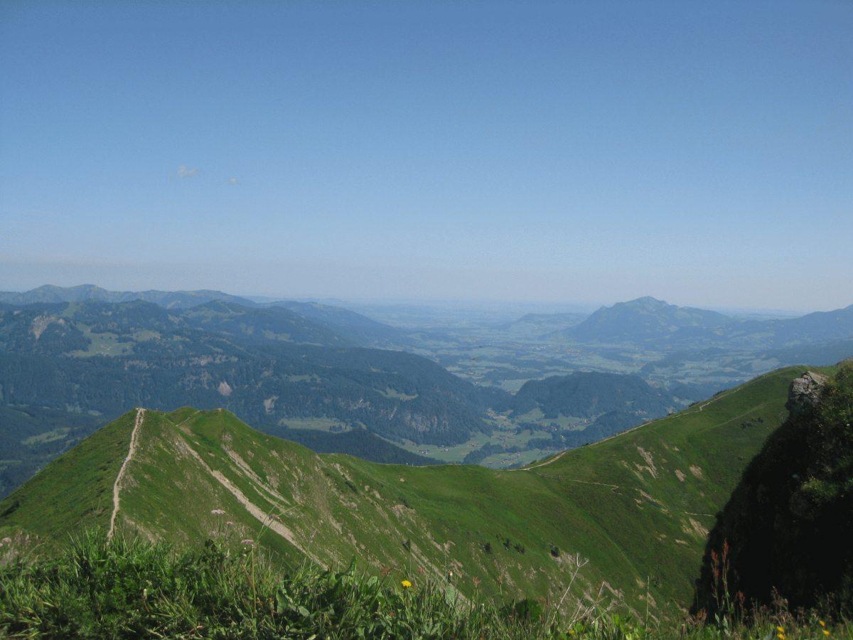 Gipfelblick vom Blumenberg Fellhorn