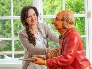 Gastgeberin Anne Elisabeth Wolf und August