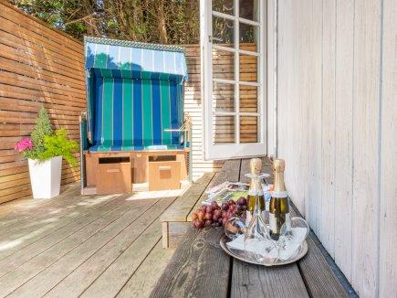 Sauna-Terrasse zum Abkühlen