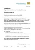 Newsletter - Ausweitung der Notbetreuung ab dem 15. Juni 2020