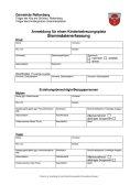 Formular zur Anmeldung für einen Kinderbetreuungsplatz (Stammdatenerfassung)