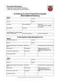 Anmeldung für einen Kinderbetreuungsplatz (Stammdatenerfassung)