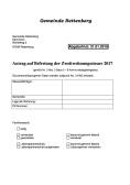 Antrag Befreiung Zweitwohnungssteuer 2017