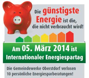 Sparen Sie Strom, sparen Sie Geld