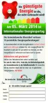 Teilnahmekarte Gewinnspiel Energiespartag