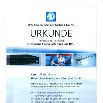 Zertifikat WISI 4