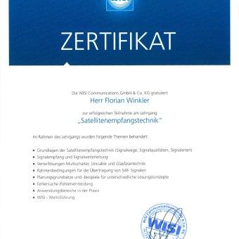 Zertifikat WISI 5