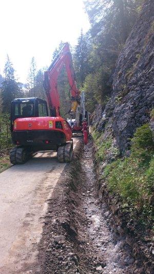 Die Arbeiten an der neuen Stromtrasse haben begonnen