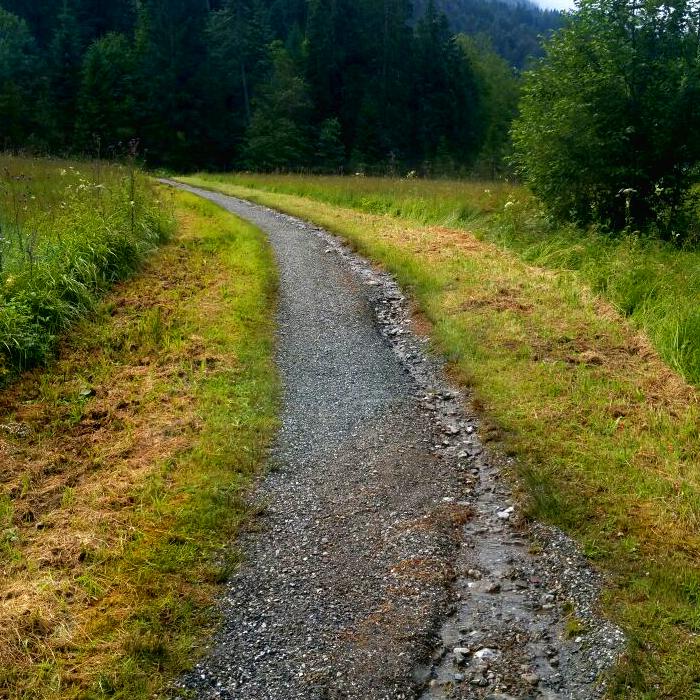 Ausspülungen und Rinnenbildung an den Oberstdorfer Wanderwegen