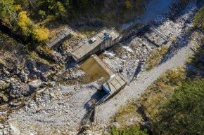 Einlaufbauwerk Kraftwerk Faltenbach