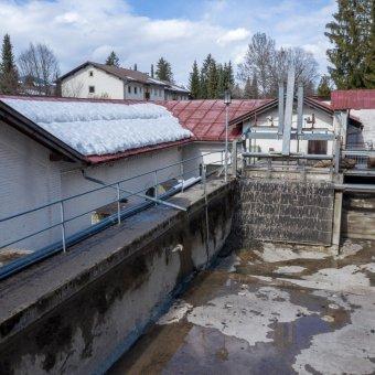 alter Triebwasserkanal nun wasserfrei