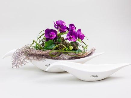 Gesteck mit Orchidee (00022)