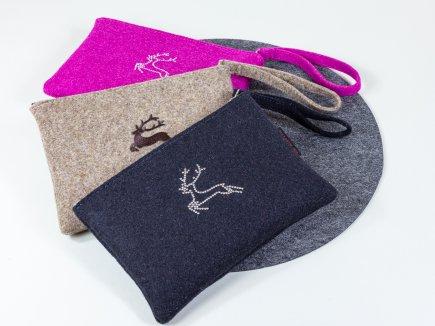 Taschen aus Filz mit Hirsch (00110)