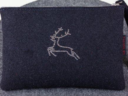 Tasche aus Filz mit Strass Hirsch (00114)