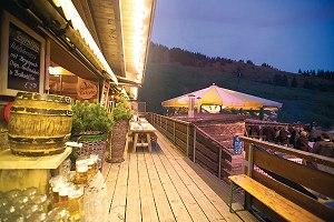 Abendstimmung auf der Hütte