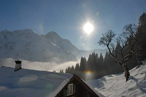 Traum-Wintertag in den Bergen
