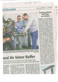 Allgäuer Zeitung - Artikel vom 13.07.19 - Tourismusbeirat lobt Pläne