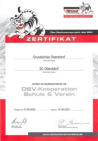 Zertifikat DSV-Kooperation