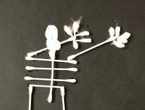 Wattestäbchen Skelette (4)