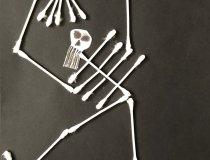 Wattestäbchen Skelette (2)
