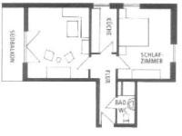 Grundriss Süd-West-Wohnung