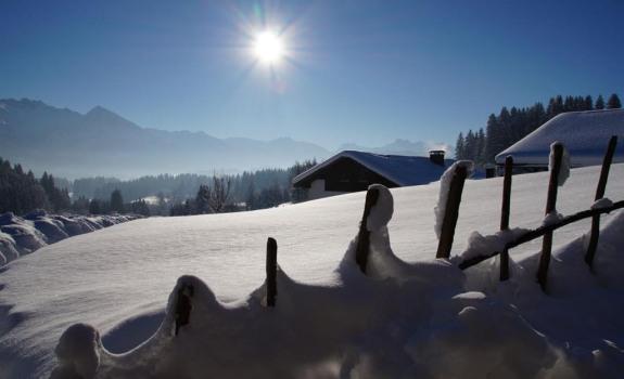 Schnee und Sonne pur