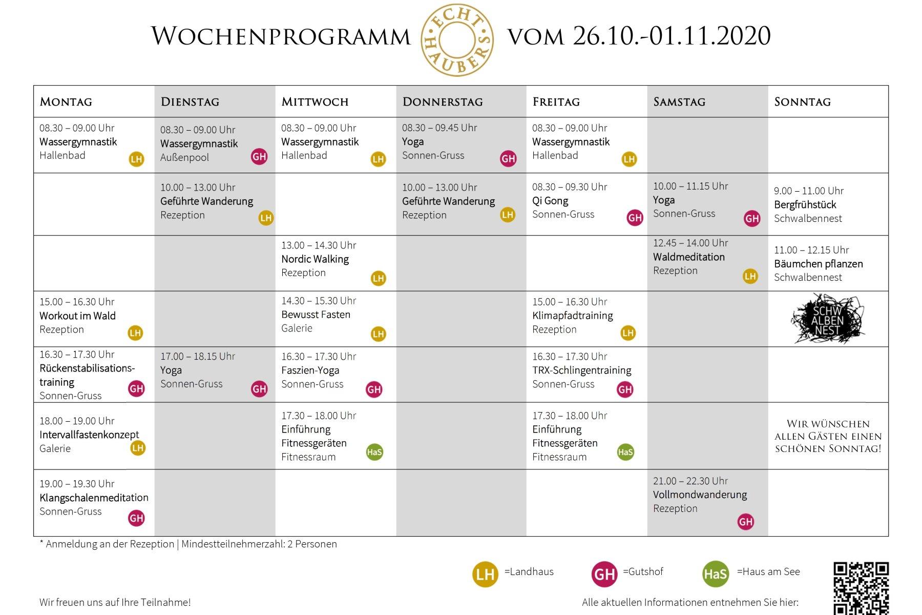 Wochenprogramm NEU  26.10.-1.11.20.1